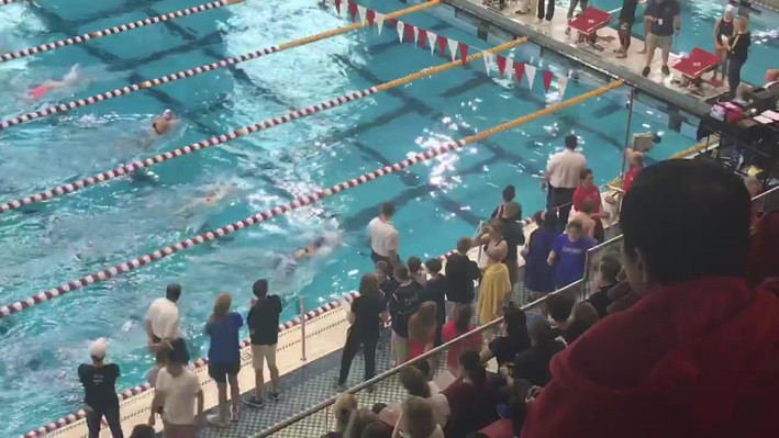 This is a video of Abbie swimming 50 breaststoke at Juinor Olympics about 2 years ago, she is in the closest end lane