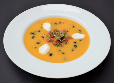 Dynamic Ageing Recipe - Spiced Butternut Squash Soup with Pumpkin Seed Salsa