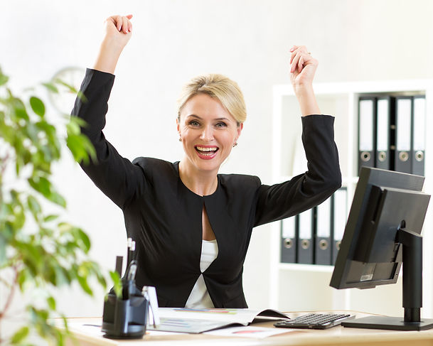 Successful middle-aged business woman wi