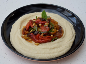 Dynamic Ageing Recipe - Whipped Butter Beans with Grilled Pepper Salad