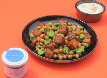 Broad beans, butternut squash and chickpeas for Dynamic Ageing