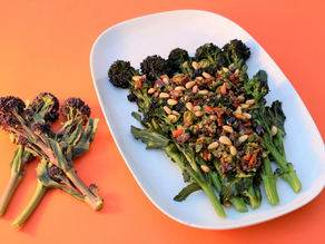 Purple Sprouting Broccoli Recipe to celebrate the Spring Equinox