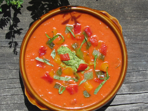 Roasted Red Pepper Gazpacho recipe