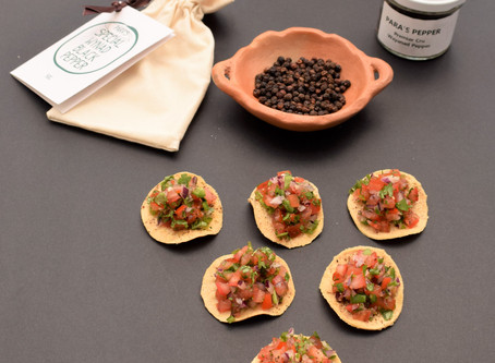 TOSTADITAS WITH PARA'S PEPPER AND SALSA RECIPE from The Natural Vitality Chef