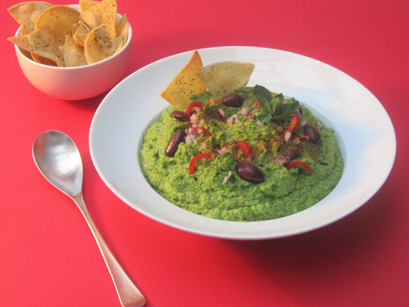 Minted Pea Hummus recipe from The Natural Vitality Chef