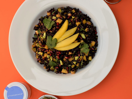 Black Venus Rice With Pomegranate, Mango And Passion Berry Pepper recipe