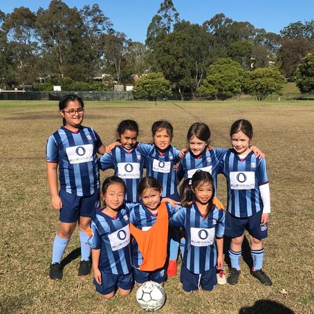 U8 Girls Sky Blue Match Report - 1 July 2018