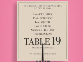 'Table 19' sets as a predictable, likeable event