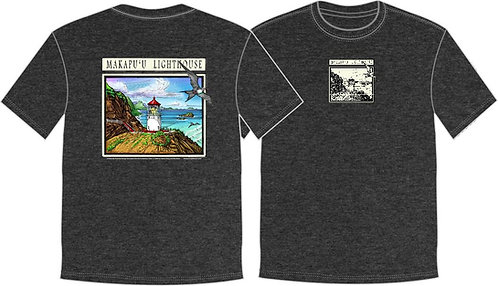 *NEW* Women's T-Shirt Makapu'u Lighthouse -GREY-