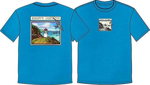 *NEW* Women's T-Shirt Makapu'u Lighthouse -TURQUOISE-