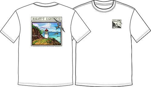 *NEW* Men's T-Shirt Makapu'u Lighthouse -WHITE-