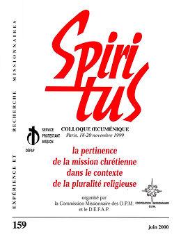 La pertinence de la mission chrétienne dans le contexte de la pluralité religieuse
