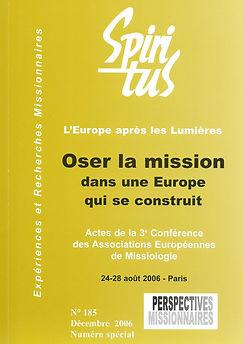 Oser la mission dans une Europe qui se construit