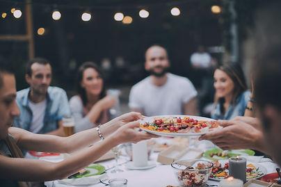 Vrienden die Diner