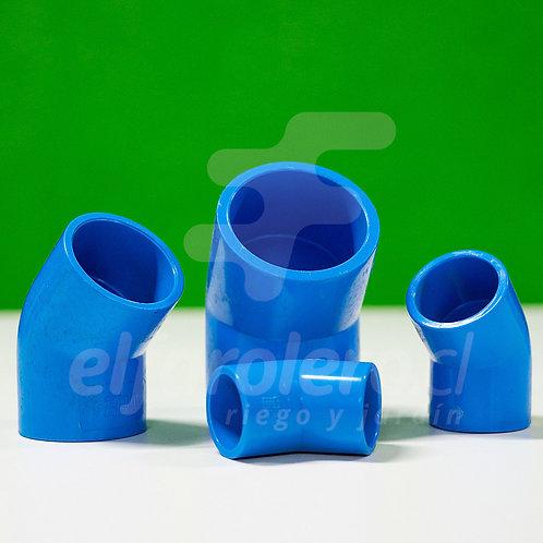 Codo 45° 25mm PVC Hid celeste
