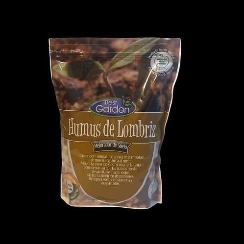 Hummus de lombriz, mejorador de suelo