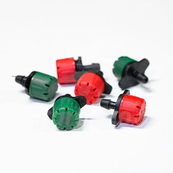 Gotero regulable R70 rojo 0 - 70 lt/h