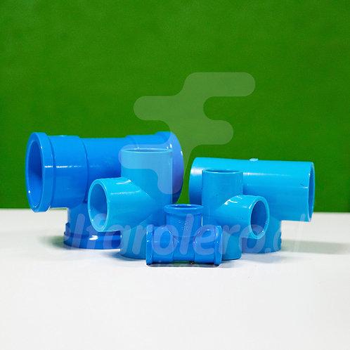 Tee 32mm PVC Hid celeste