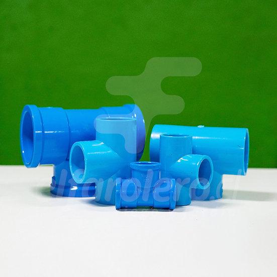 Tee 40mm PVC Hid celeste