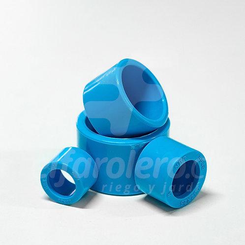 Buje de reducción corto 32mm X 25mm PVC Hid celeste