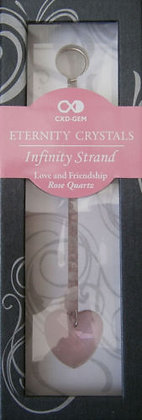 LOVE AND FRIENDSHIP - ROSE QUARTZ (PINK HEART)