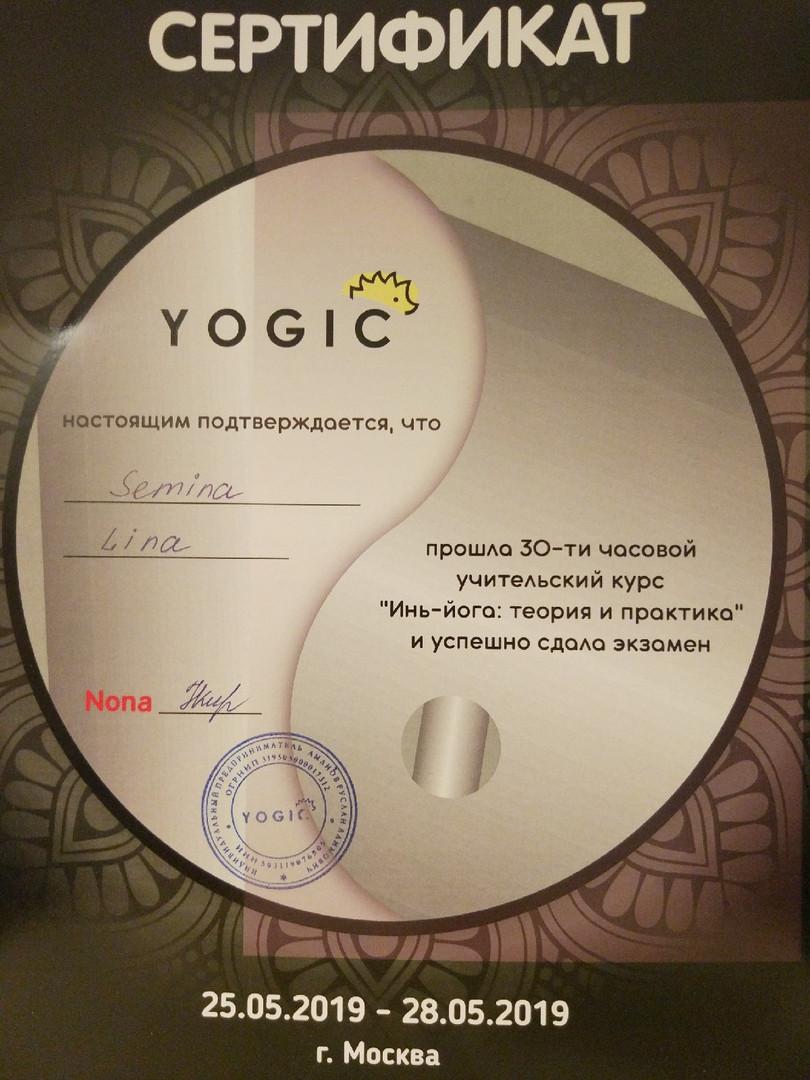 Учительский курс Инь йоги, 2019