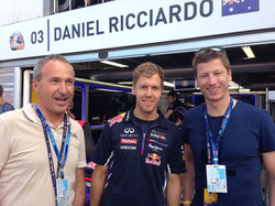 Sebastian Vettel und Hannes Reichelt