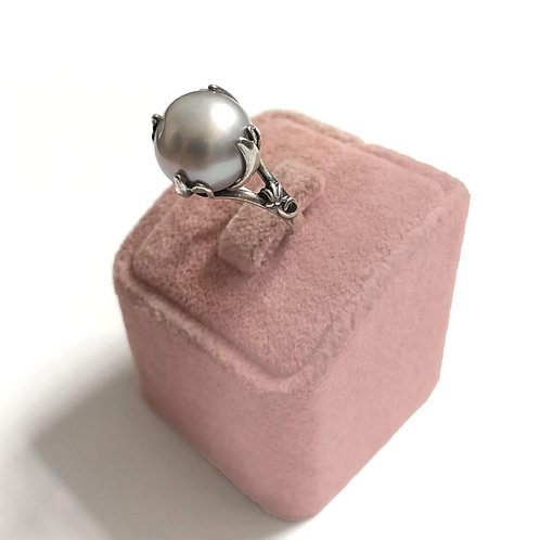 Silver Coloured Freshwater Pearl With Sterling Silver