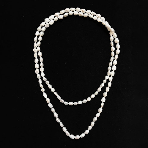 White Baroque Small Pearls Necklace