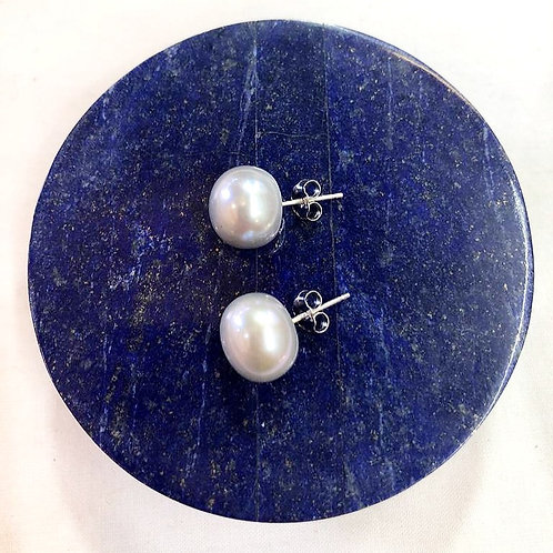 Fresh Water Pearl, Sterling Silver Stud Earrings