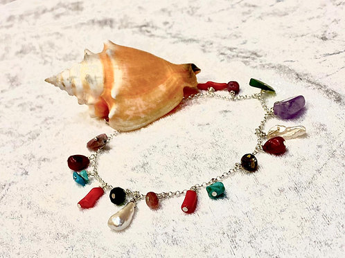 Multi-stone Anklets