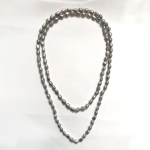 Grey Small Baroque Pearl Necklace