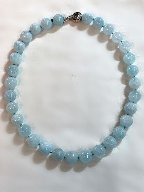 Round Aquamarine Necklace
