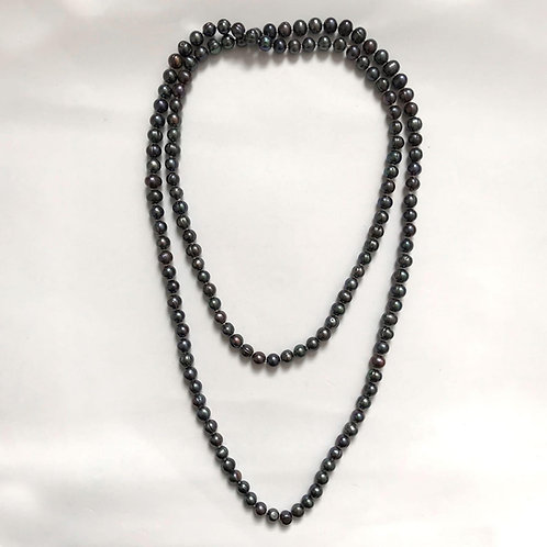 Dark Grey Freshwater Pearl Necklace