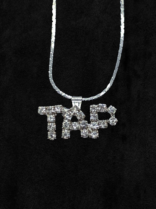 Rhinestone TAP Letter Necklace