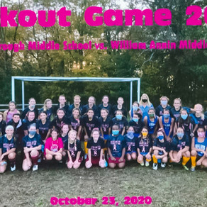 Pinkout Field Hockey Game raises $175.00 for Dance for the Cure