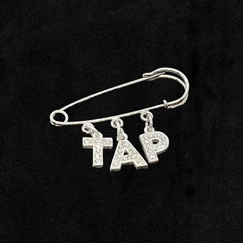"Dangling ""TAP"" Safety Pin"