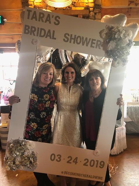 Joanne Liscovitz, Tara Baldwin and Kathleen Cirioli at Tara's bridal shower.