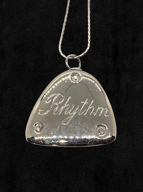 Large Rhythm Tap Necklace with Rhinestones