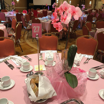 Table setting at Ribbons of Hope