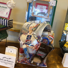 One of the many beautiful baskets at our raffle!
