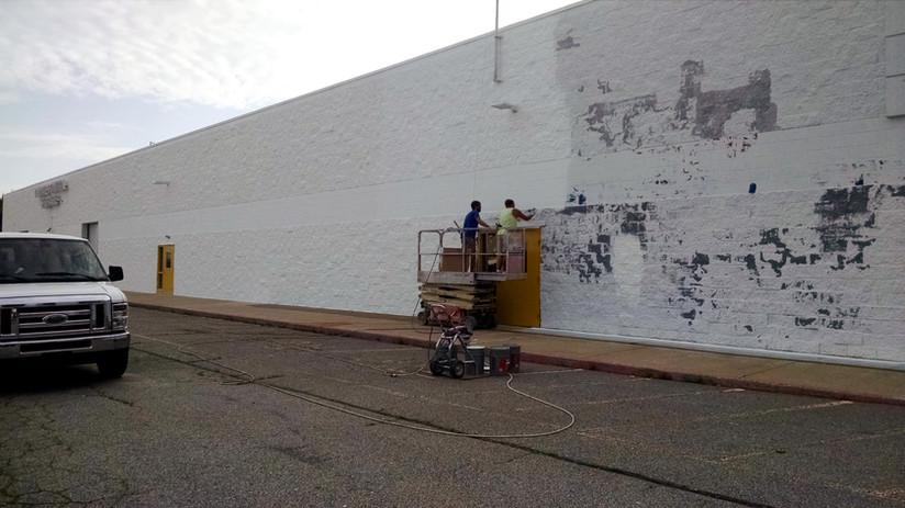 Exterior Block Wall