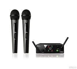 2x Mikrofon s vysílačem AKG WMS40 MINI2 VOCAL SET DUAL