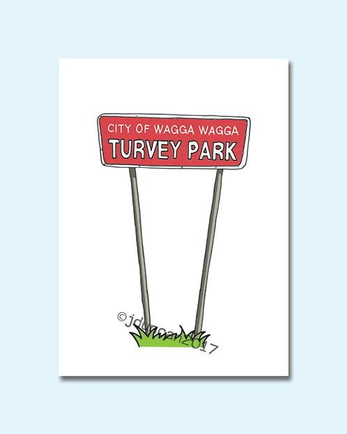 Turvey Park Sign