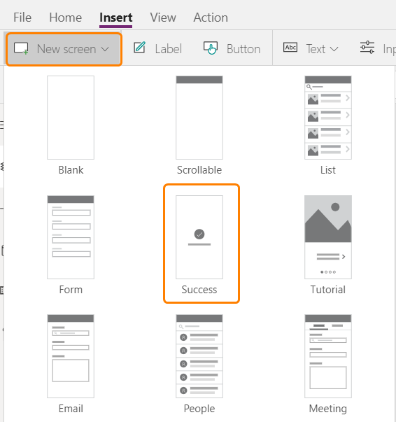 Adding new screen in Power Apps