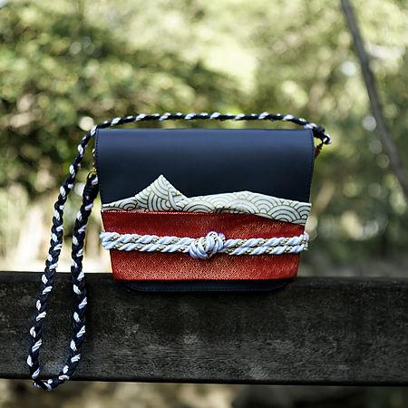 kimono leather shoulder bag