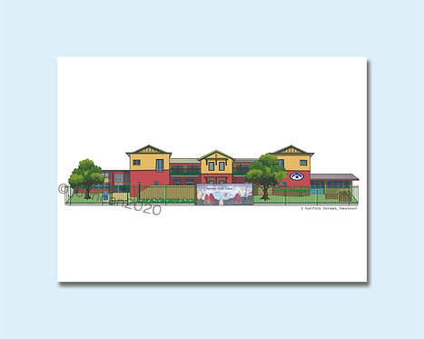 Newtown Public School, Newtown, Inner West, Illustration, Sydney