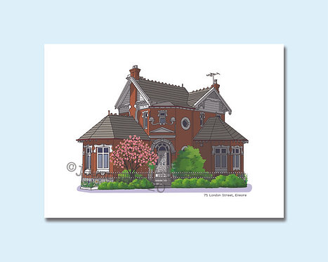 Enmore, Inner West, Federation Style, Sydney, House Illustration