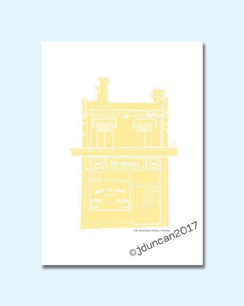 Anna's Milk Bar, Newtown - yellow