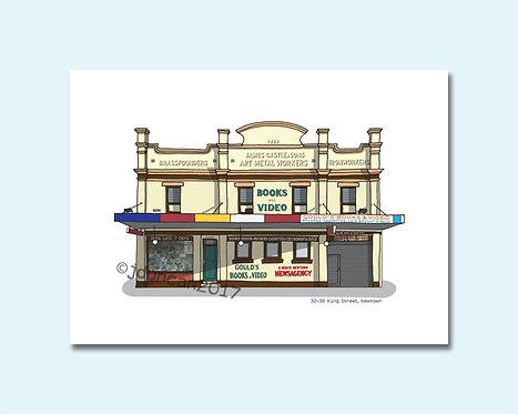 Gould's Book Arcade, Gould's Newtown, King Street, Newtown, Sydney Illustrator, Sydney architecture
